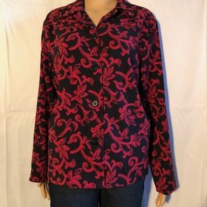 Black and red patterned blazer